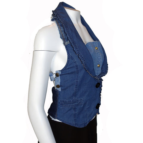 Hoard Couture Original Denim Halter Top