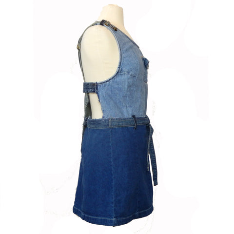 Hoard Couture Original Denim V-Back Halter Dress