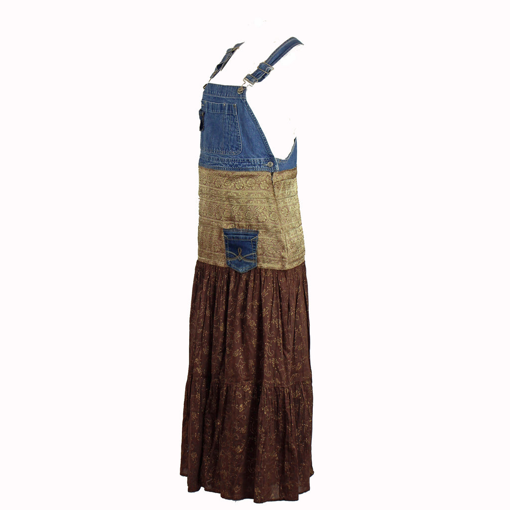Overalls with Indian Print Skirt