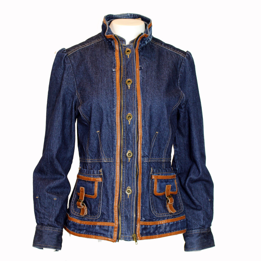 Trim on Top Jacket Denim Jacket