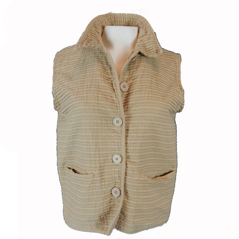 Camel Vest with Texture