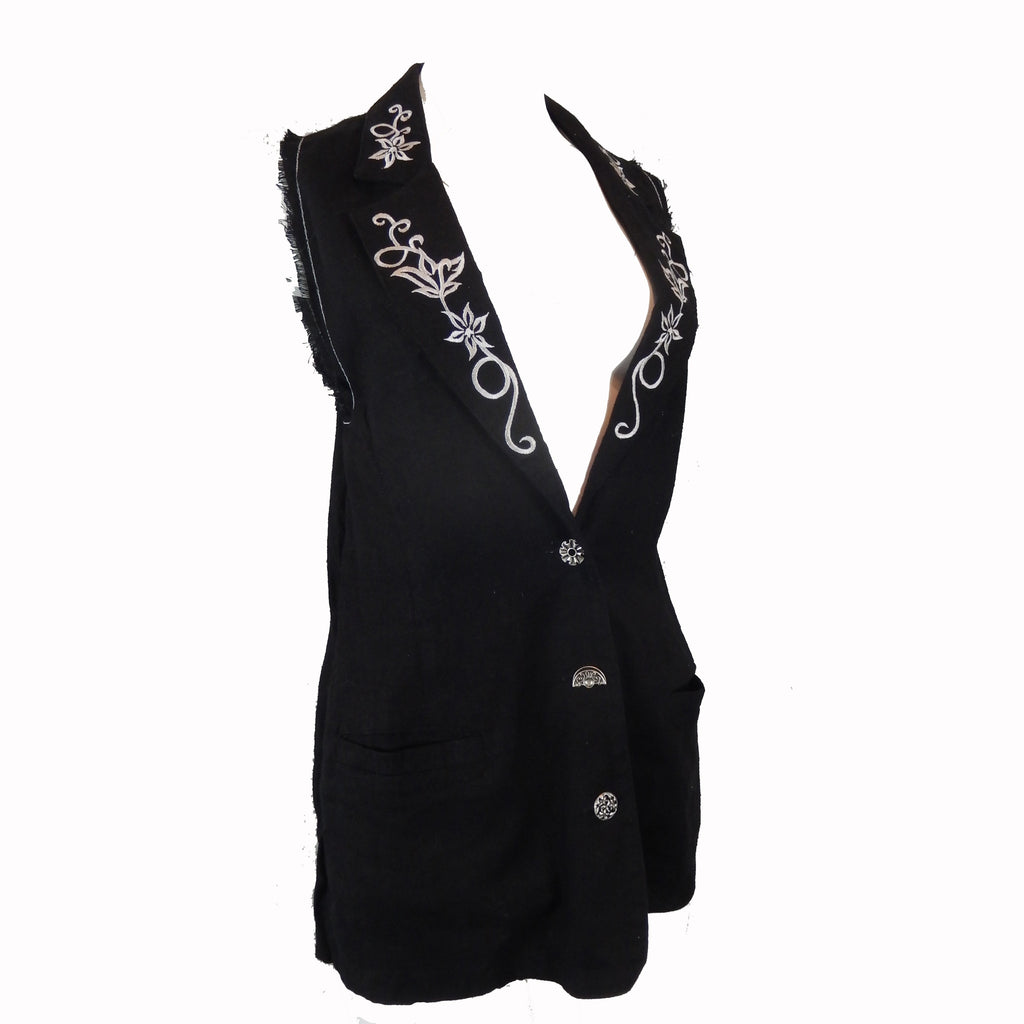 Long Vest with Embroidery