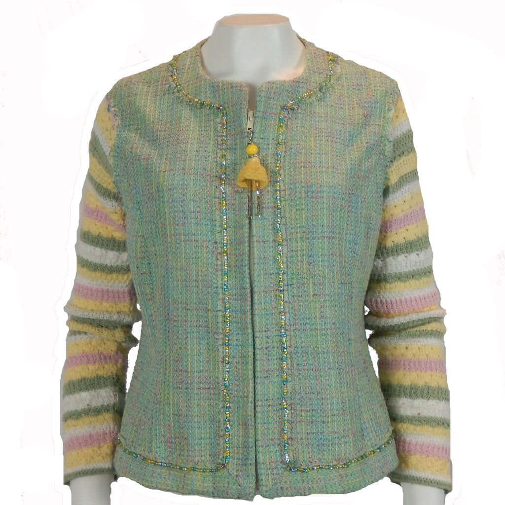 Beaded Trim Tweed Jacket 2.0