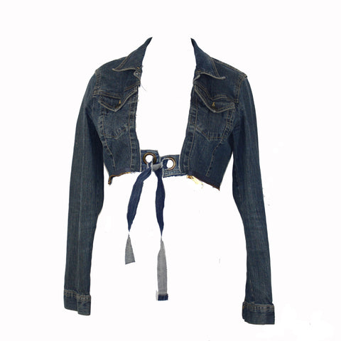 Hoard Couture Original Denim Crop Jacket  (O ring)