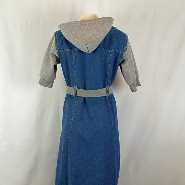 Hoard Couture Original Denim Hoodie Dress