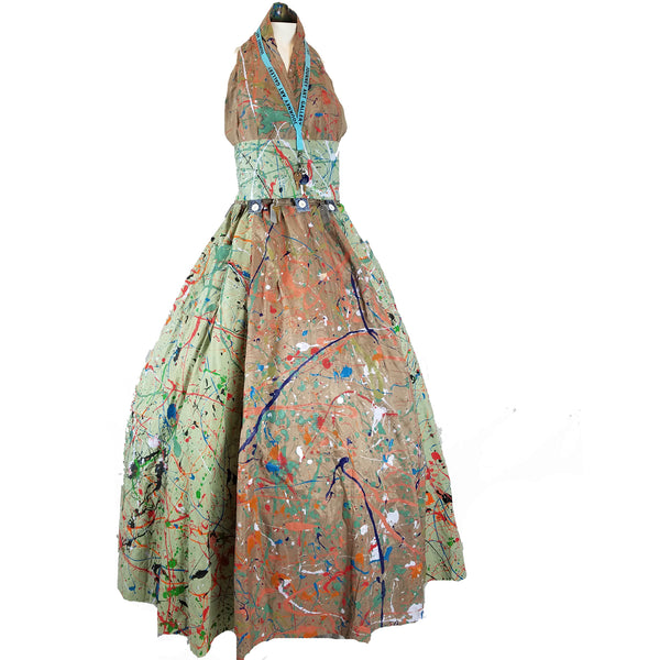 Unconventional Materials - Pollock Paint Splatter Gown