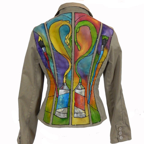 "Hand Painted ""A Brush With Love"" Jacket"