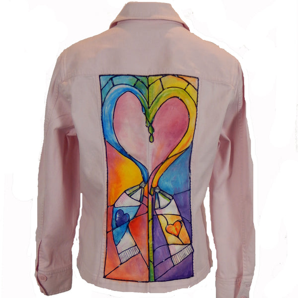 "Hand Painted  ""Art is Love"" Jacket"