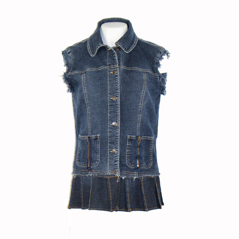Hoard Couture Original Denim Skirted Vest