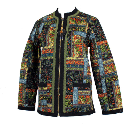 Printed Quilt Pattern on a Lightly Quilted Jacket
