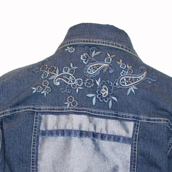 Denim with Silver and Embroidery Accents
