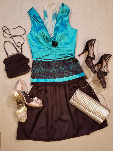 Special Occasion Teal with a Twist Top