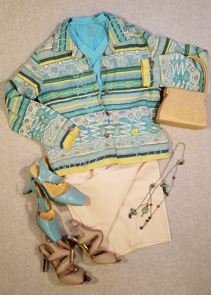 Tropical Turquoised Toned Jacket