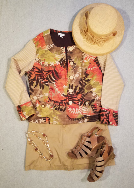 Coral and Camel Jacket
