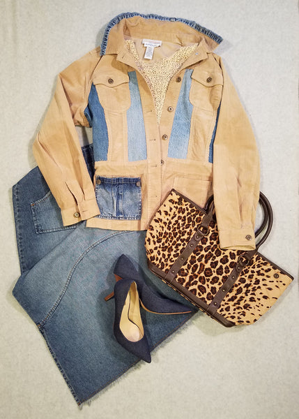 Camel and Denim Jacket