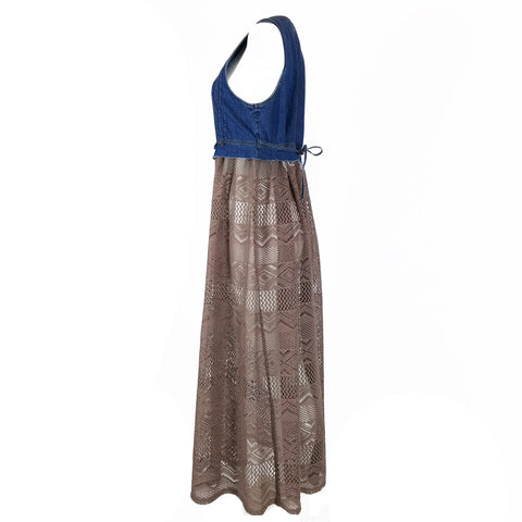 Taupe Weave Topper by Hoard Couture Original Denim
