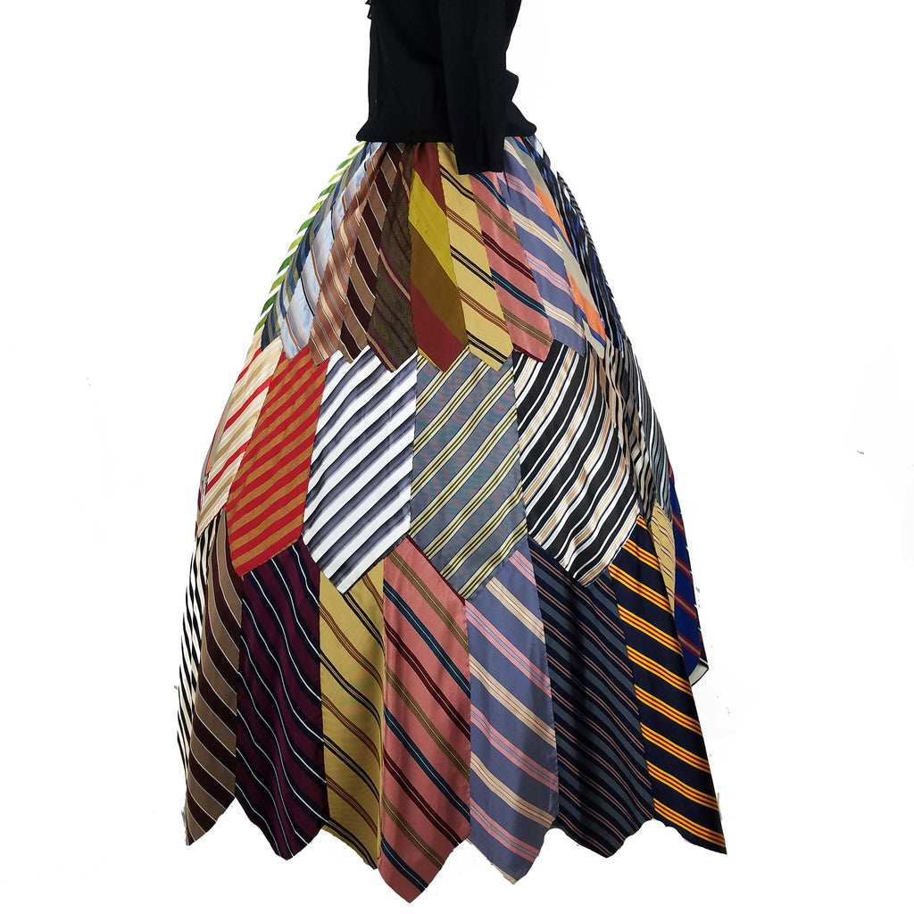 Silk Necktie Ballgown Skirt - Unconventional Materials