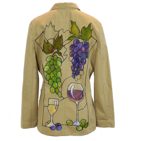 Hand Painted Wine Glass Blazer