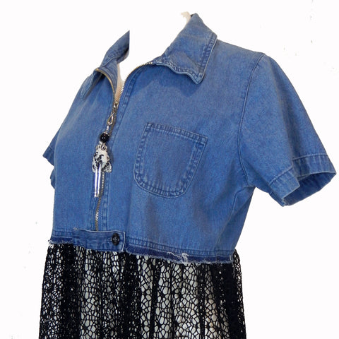 Hoard Couture Original Denim Coverup
