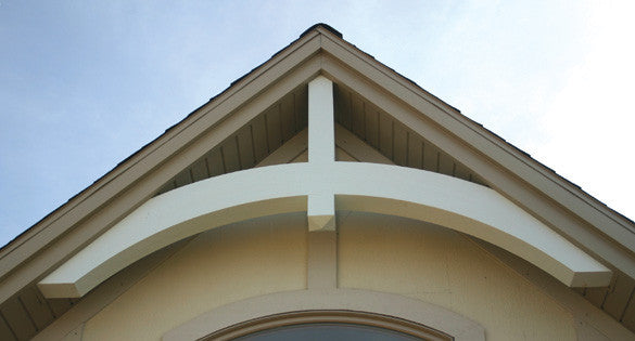 Arched Beam Polyurethane Craftsman Gable Decoration