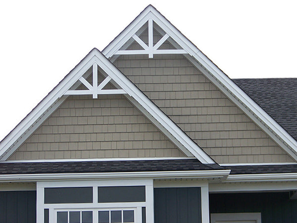 Center Drop Pvc Craftsman Gable Decoration Gpf
