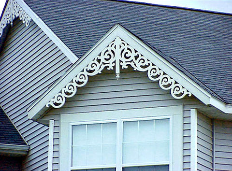 Extended pvc gingerbread gable trim gda for Gingerbread trim for sale