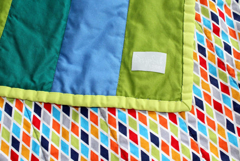 Pixel Pyramid Baby Quilt