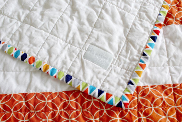 Sunny Stripes Baby Quilt