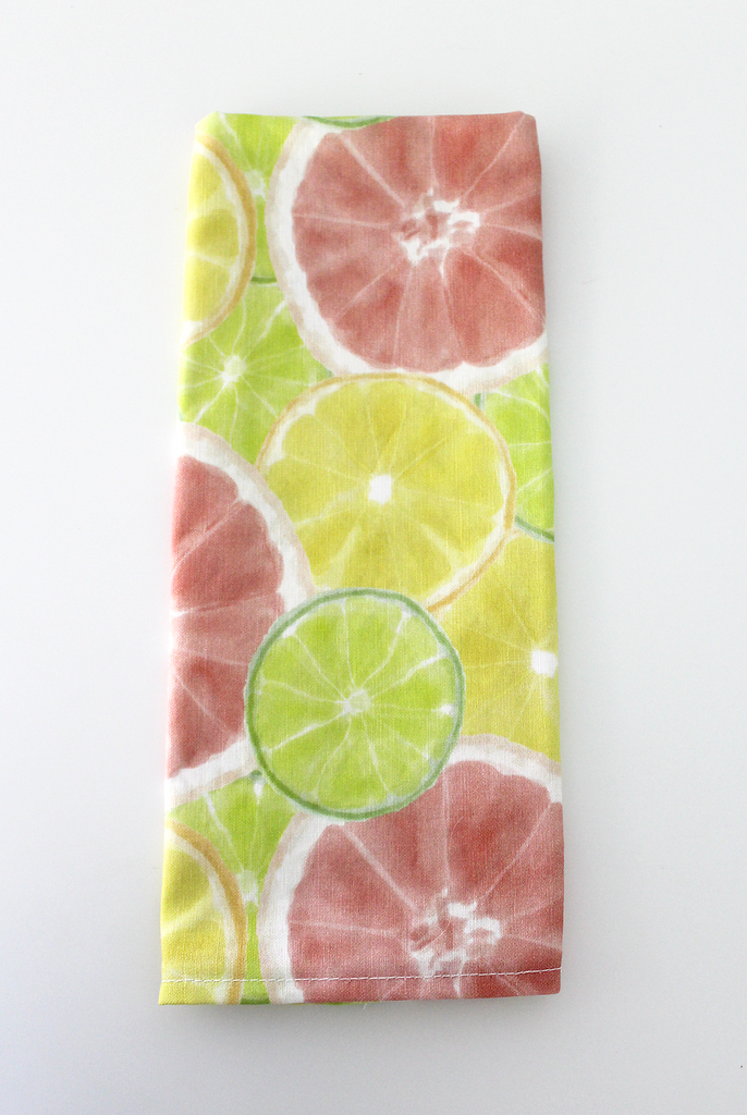 Watercolor Citrus Tea Towel
