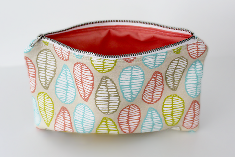 Tropical Fall Zipper Bag