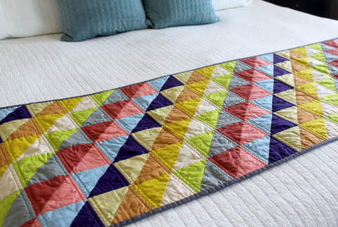 Half-Square Triangle Bed Runner