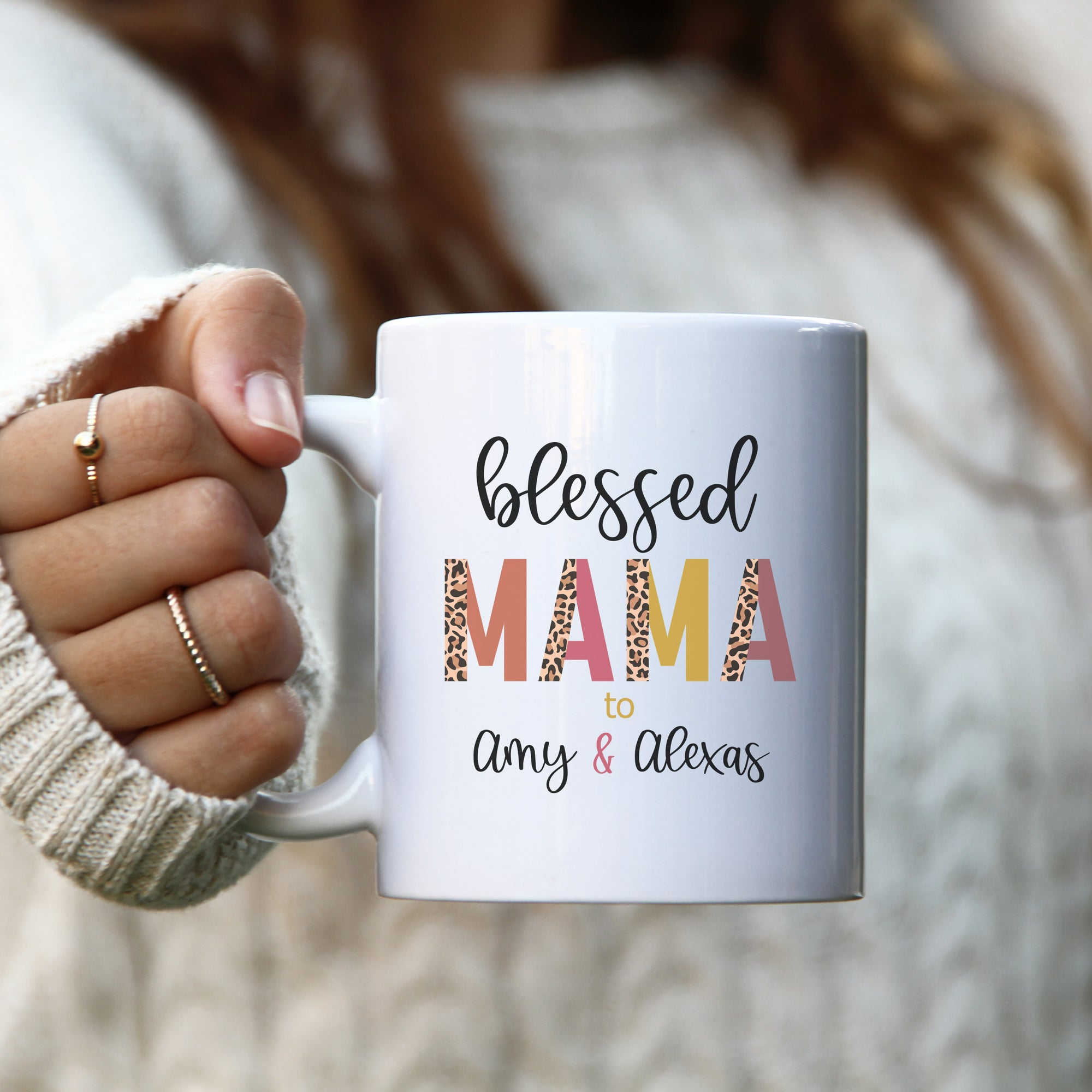 Blessed Mama Coffee Mug | Personalized Mug | Mother's Day Gift