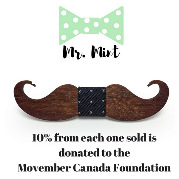 Mr.Mint - Movember Mustache Bowtie