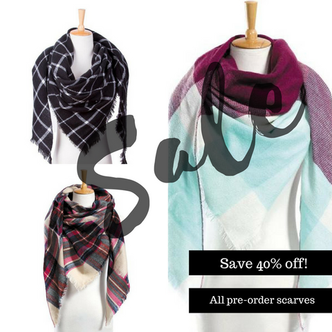 40% off Blanket Triangle Scarves