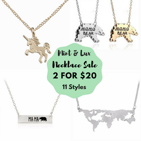 2 for $20 Necklace Sale