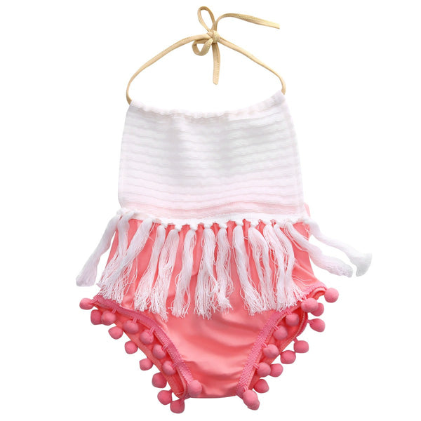 Pretty in Pink Tassel Romper
