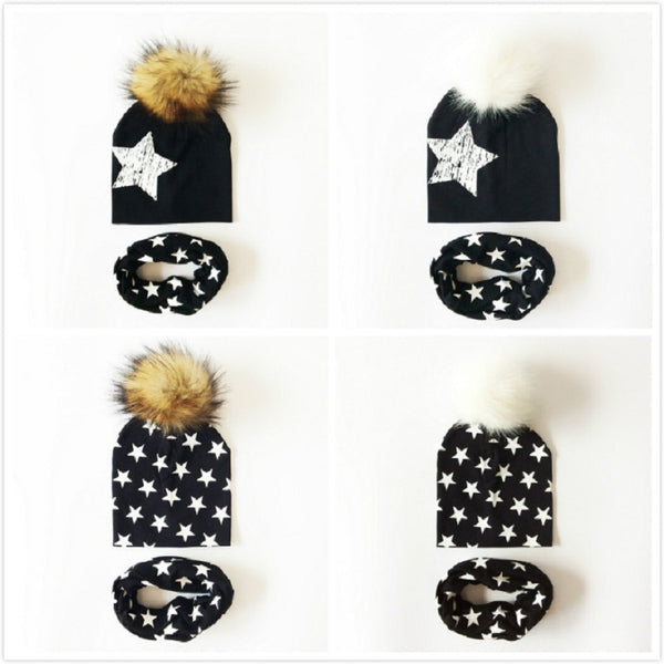 NEW! Star Beanies & Scarf Gift Set