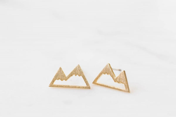 Mountain Earrings in Gold & Silver