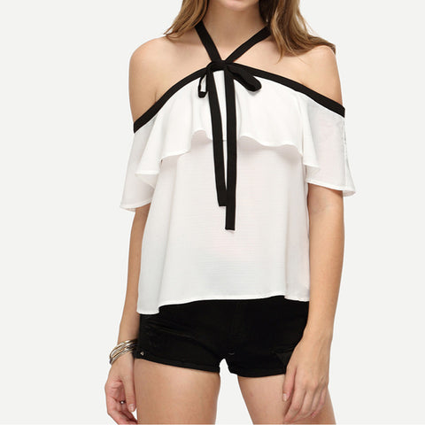 Off Shoulder Chiffon