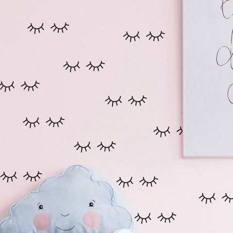Cute Eyelash Wall Decals in 6 Colours