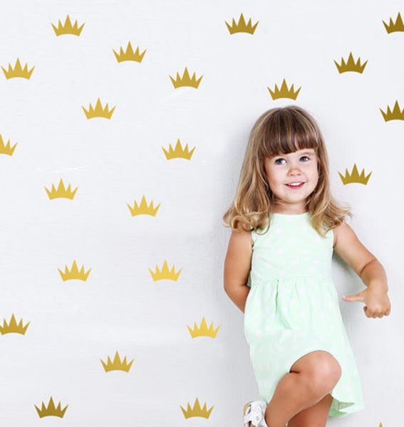 Princess Crowns Wall Stickers