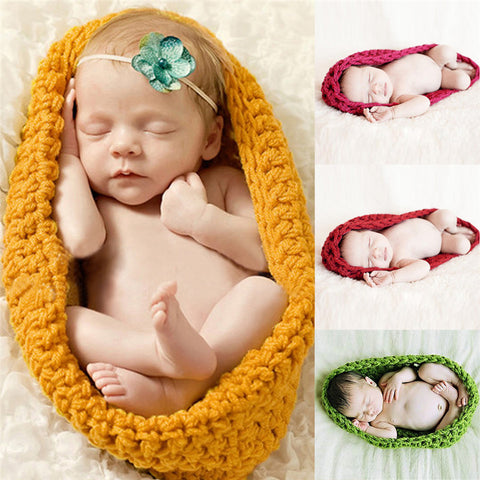 Hand Knit Photo Swaddle