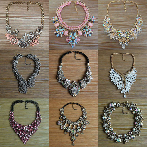 Glam Collar Necklaces in 16 Styles