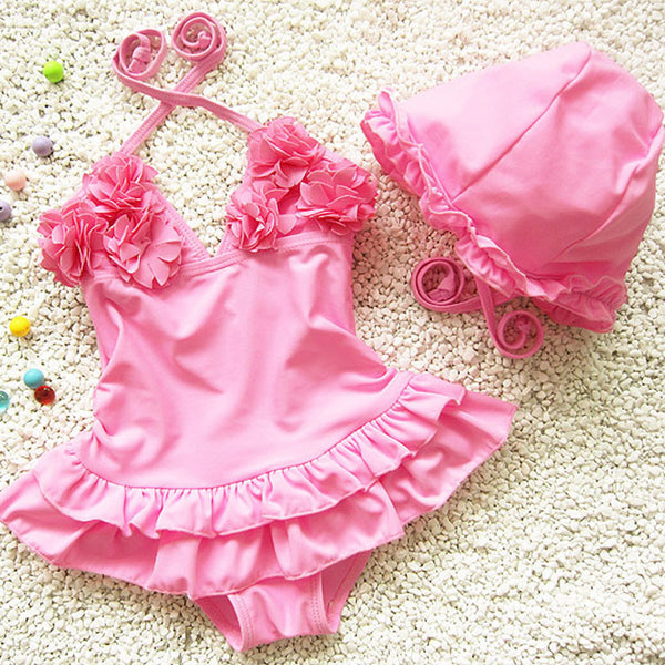 Swimsuit fused girls swimwear one piece toddler girl swimsuits bathing suits biquini infantil menina children's swimwear  girls