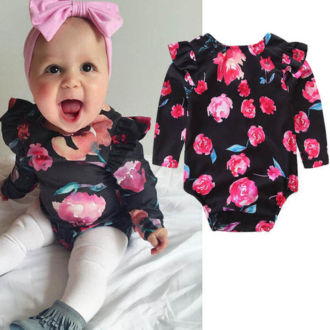 Ruffle & Floral Zip Up