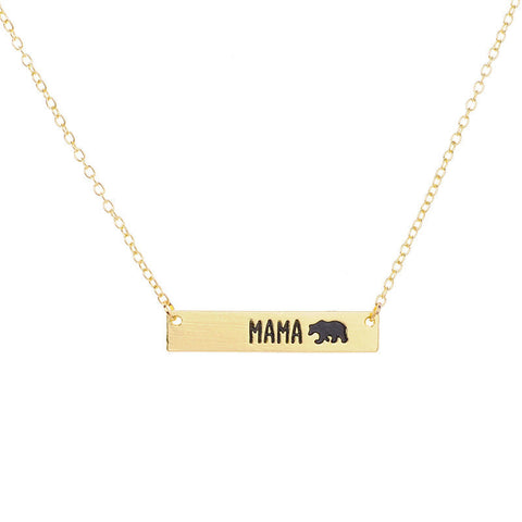 Mama Bear Bar Necklace