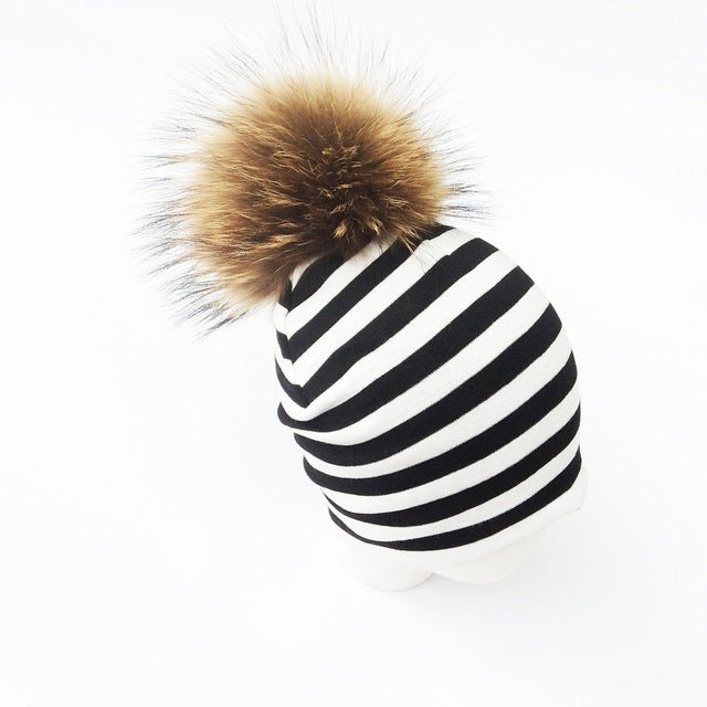 NEW! Striped Pom Pom Beanies