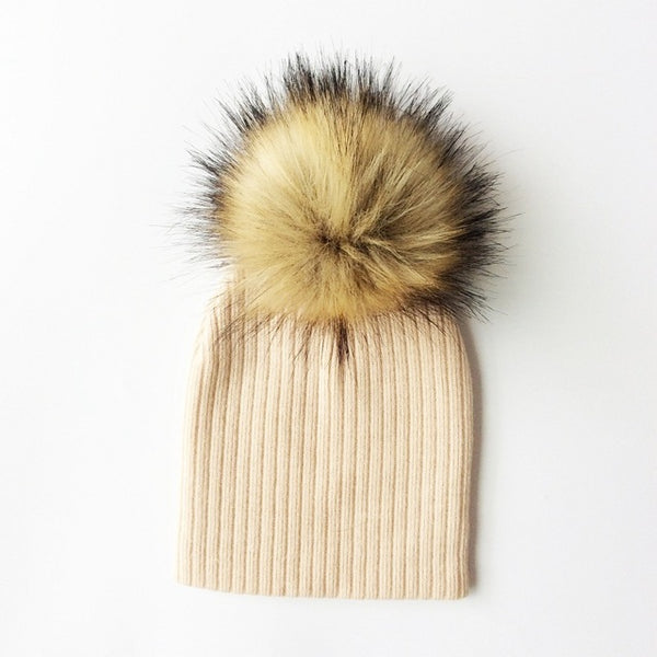 NEW! Knit Pom Pom Beanies in 24 colours