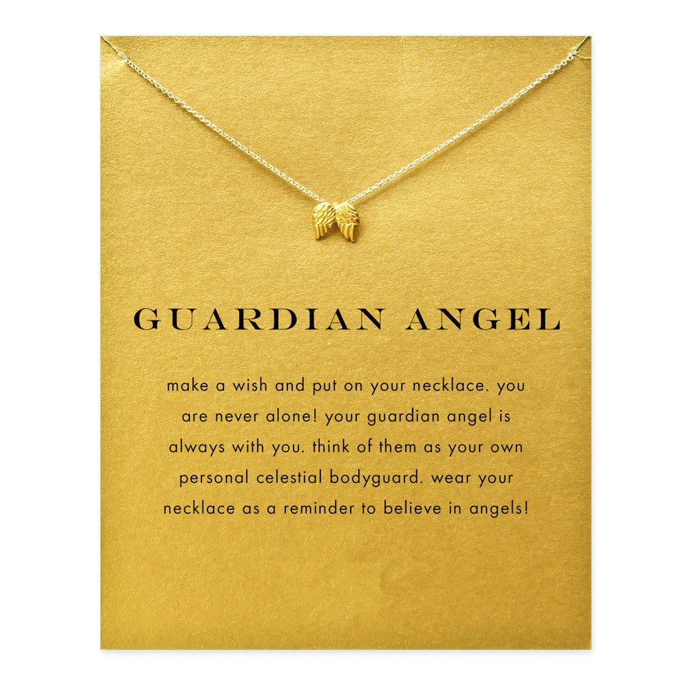 Guardian Angel Double Chain Necklace