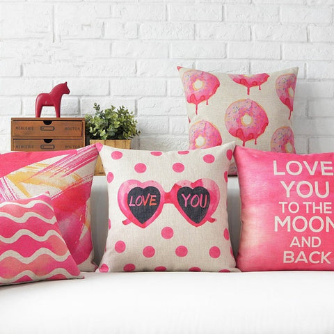 Girly Pink Pillow Covers